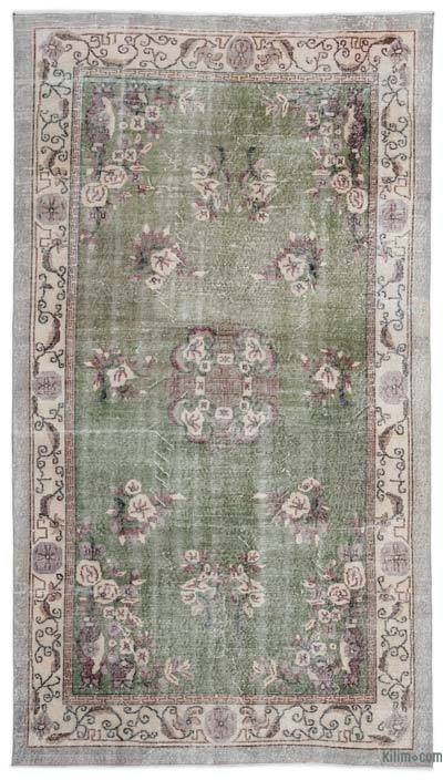 "Turkish Vintage Area Rug - 5'7"" x 10' (67 in. x 120 in.)"