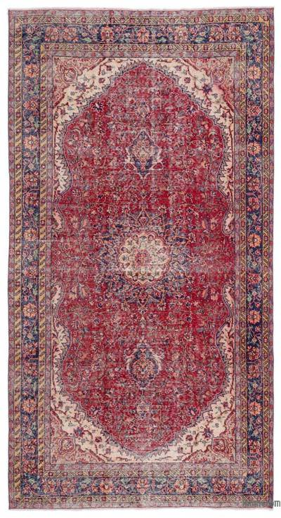 """Turkish Vintage Area Rug - 5'3"""" x 9'10"""" (63 in. x 118 in.)"""