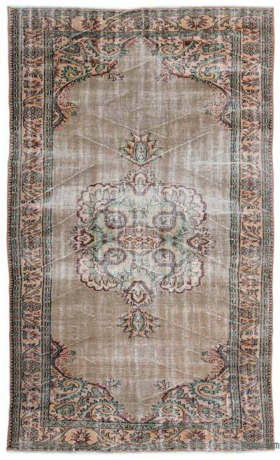 """Turkish Vintage Area Rug - 5'8"""" x 9'9"""" (68 in. x 117 in.)"""