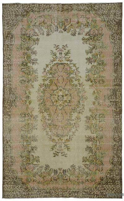 "Turkish Vintage Area Rug - 5' 9"" x 9' 4"" (69 in. x 112 in.)"