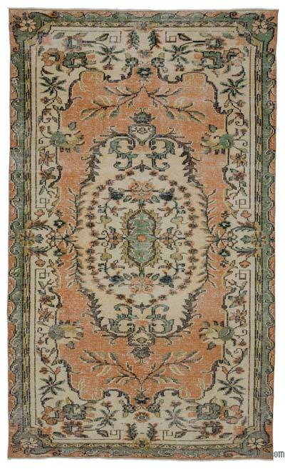 """Turkish Vintage Area Rug - 5'9"""" x 9'8"""" (69 in. x 116 in.)"""