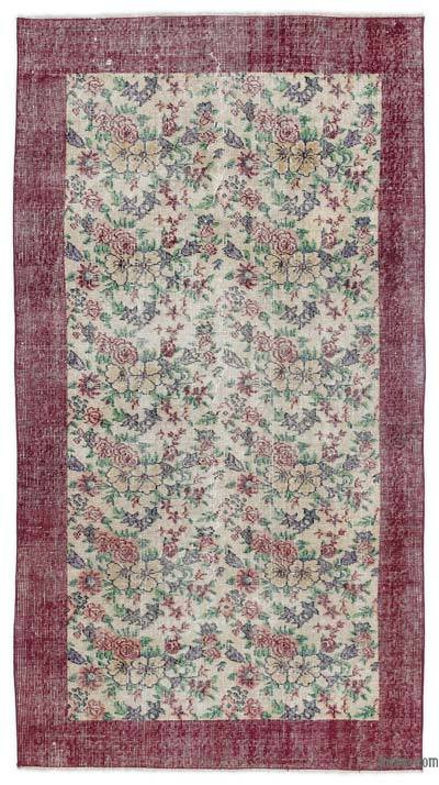 """Turkish Vintage Area Rug - 3'8"""" x 6'8"""" (44 in. x 80 in.)"""
