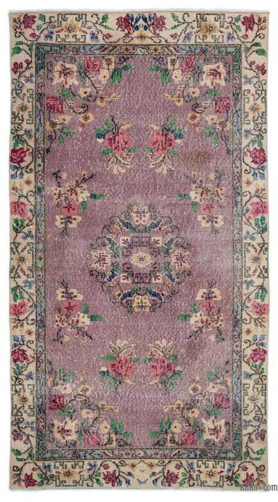 """Turkish Vintage Area Rug - 3'10"""" x 7'3"""" (46 in. x 87 in.)"""