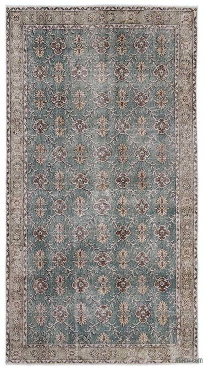 """Turkish Vintage Area Rug - 4'6"""" x 8'5"""" (54 in. x 101 in.)"""