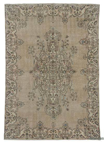 """Turkish Vintage Area Rug - 6' 7"""" x 9' 4"""" (79 in. x 112 in.)"""