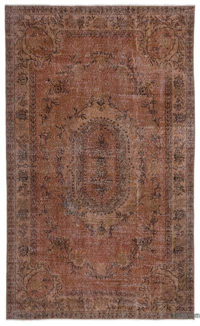 Boyalı El Dokuma Vintage Halı - 173 cm x 288 cm