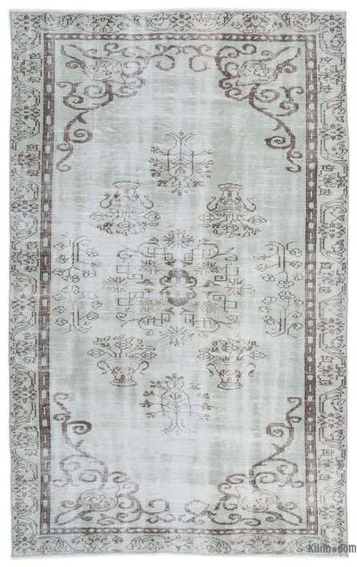 """Over-dyed Turkish Vintage Rug - 5'4"""" x 8'6"""" (64 in. x 102 in.)"""