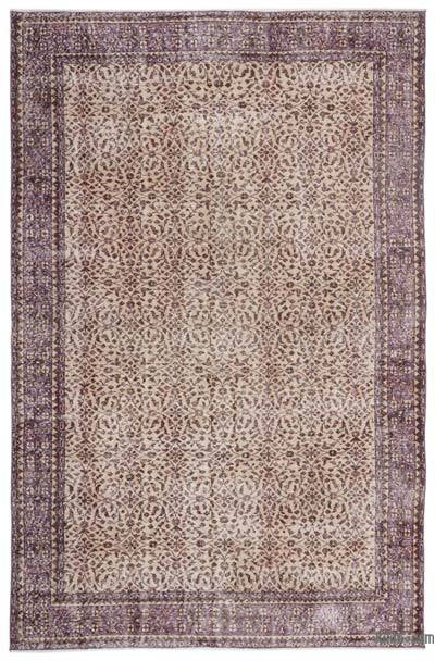 "Turkish Vintage Area Rug - 6'8"" x 10'4"" (80 in. x 124 in.)"