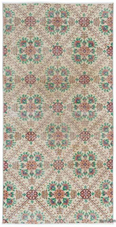 """Turkish Vintage Area Rug - 3'3"""" x 6'7"""" (39 in. x 79 in.)"""