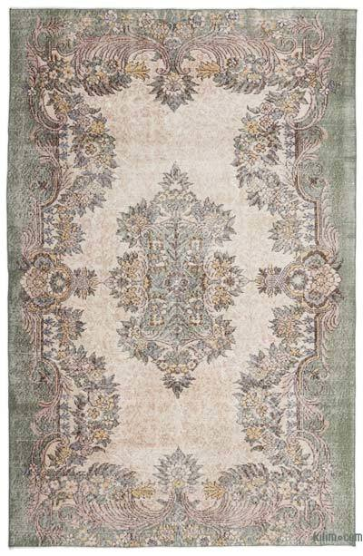"""Turkish Vintage Area Rug - 5' 9"""" x 8' 10"""" (69 in. x 106 in.)"""