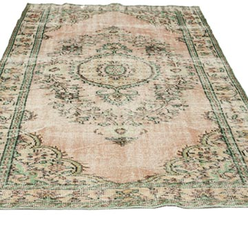 """Vintage Turkish Hand-Knotted Rug - 5' 4"""" x 9' 4"""" (64 in. x 112 in.) - K0019536"""