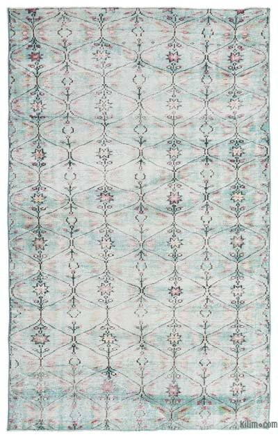 """Turkish Vintage Area Rug - 5'4"""" x 8'6"""" (64 in. x 102 in.)"""