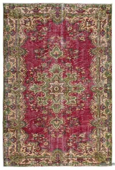 "Turkish Vintage Area Rug - 5'5"" x 8' (65 in. x 96 in.)"