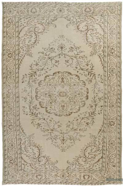 "Over-dyed Turkish Vintage Rug - 6' 4"" x 9' 8"" (76 in. x 116 in.)"