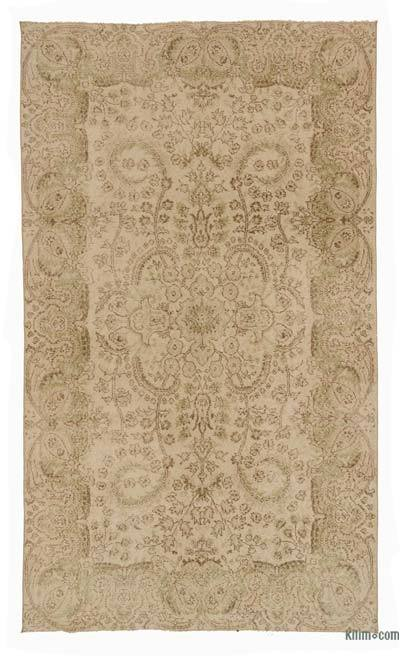 "Over-dyed Turkish Vintage Rug - 5' 5"" x 9' 4"" (65 in. x 112 in.)"