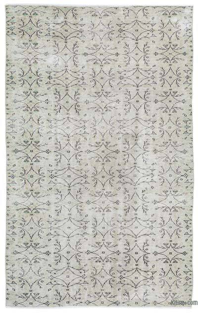"""Over-dyed Turkish Vintage Rug - 5'7"""" x 8'11"""" (67 in. x 107 in.)"""