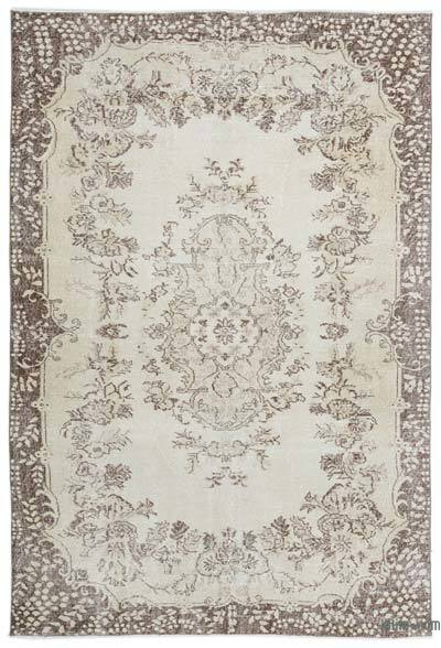 """Over-dyed Turkish Vintage Rug - 6' 5"""" x 9' 6"""" (77 in. x 114 in.)"""
