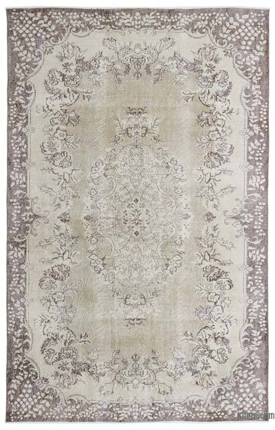 """Over-dyed Turkish Vintage Rug - 6' 8"""" x 10' 6"""" (80 in. x 126 in.)"""