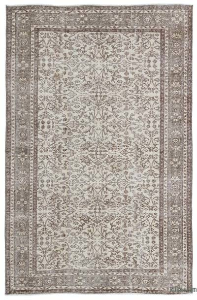 Alfombra Turca Vintage Sobre-teñida - 176 cm x 272 cm