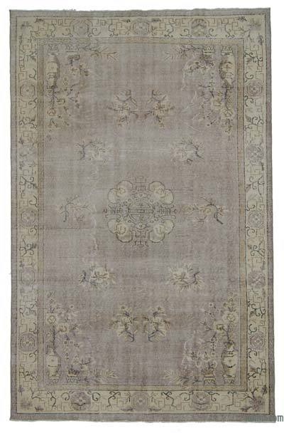 """Over-dyed Turkish Vintage Rug - 5'9"""" x 9'2"""" (69 in. x 110 in.)"""