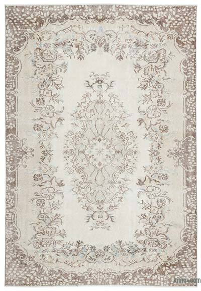"""Over-dyed Turkish Vintage Rug - 5'11"""" x 8'7"""" (71 in. x 103 in.)"""
