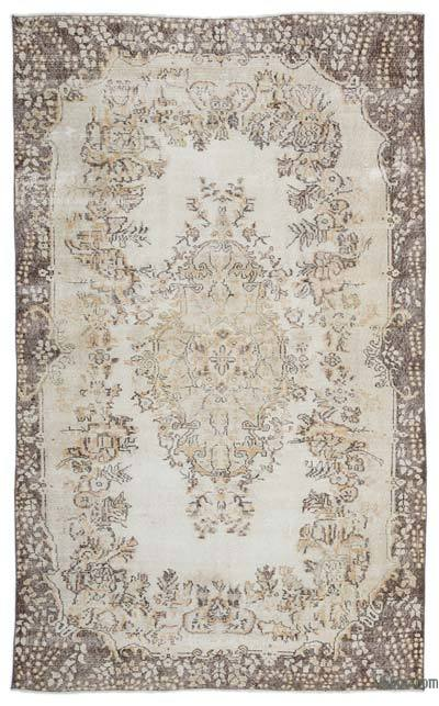 """Over-dyed Turkish Vintage Rug - 6' x 9'11"""" (72 in. x 119 in.)"""