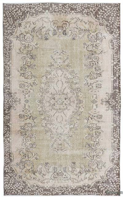 "Over-dyed Turkish Vintage Rug - 5'8"" x 9'2"" (68 in. x 110 in.)"