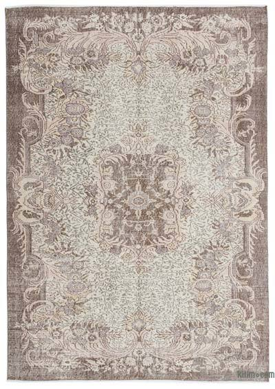 """Over-dyed Turkish Vintage Rug - 6' x 8'5"""" (72 in. x 101 in.)"""