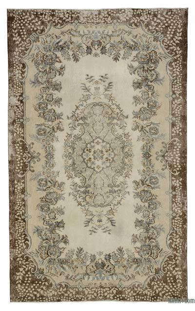"Over-dyed Turkish Vintage Rug - 5' 9"" x 9' 6"" (69 in. x 114 in.)"