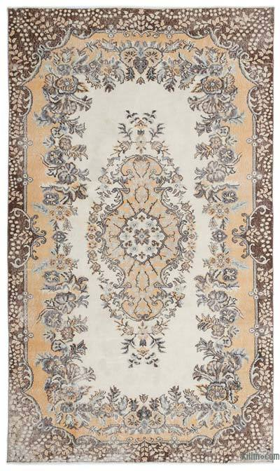 """Turkish Vintage Area Rug - 5' 10"""" x 9' 11"""" (70 in. x 119 in.)"""