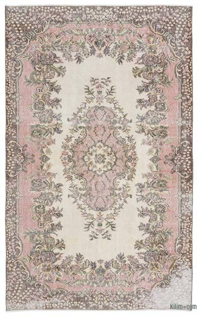 """Over-dyed Turkish Vintage Rug - 5'6"""" x 8'9"""" (66 in. x 105 in.)"""