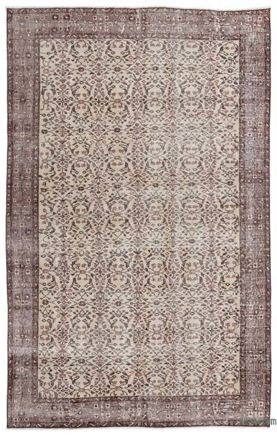 """Turkish Vintage Area Rug - 5'5"""" x 8'5"""" (65 in. x 101 in.)"""