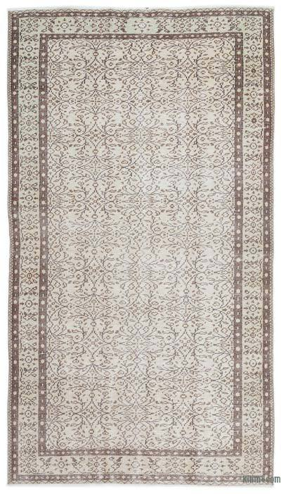 "Over-dyed Turkish Vintage Rug - 4'11"" x 8'10"" (59 in. x 106 in.)"