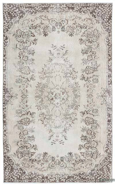 """Over-dyed Turkish Vintage Rug - 5'8"""" x 9'2"""" (68 in. x 110 in.)"""