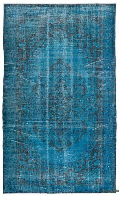 Boyalı El Dokuma Vintage Halı - 180 cm x 295 cm