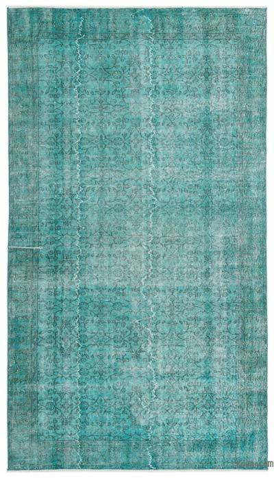 """Over-dyed Turkish Vintage Rug - 5'4"""" x 9'7"""" (64 in. x 115 in.)"""