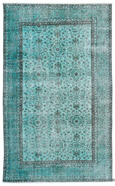 """Over-dyed Turkish Vintage Rug - 4'11"""" x 8'3"""" (59 in. x 99 in.)"""