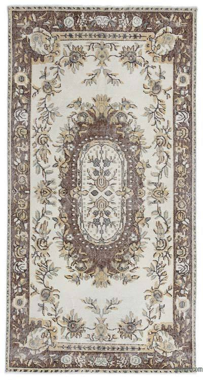 """Turkish Vintage Area Rug - 3'7"""" x 6'9"""" (43 in. x 81 in.)"""
