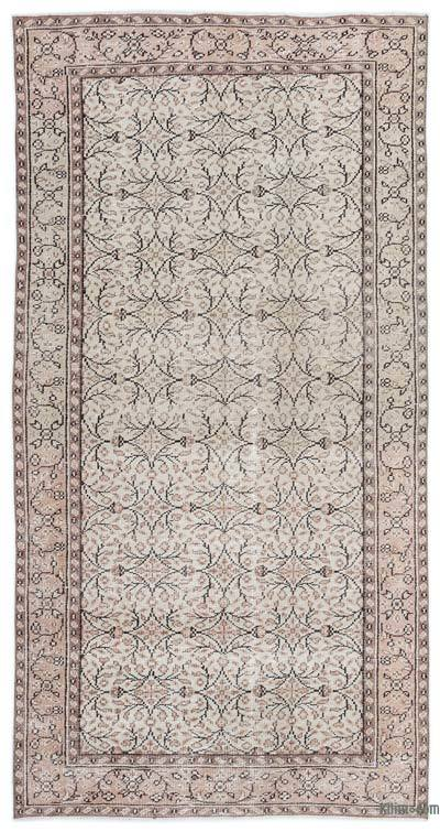 "Over-dyed Turkish Vintage Rug - 4'6"" x 8'6"" (54 in. x 102 in.)"