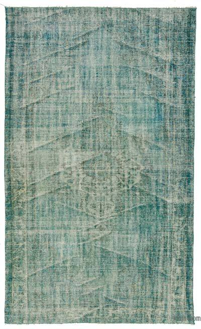 "Over-dyed Turkish Vintage Rug - 4'9"" x 8'2"" (57 in. x 98 in.)"