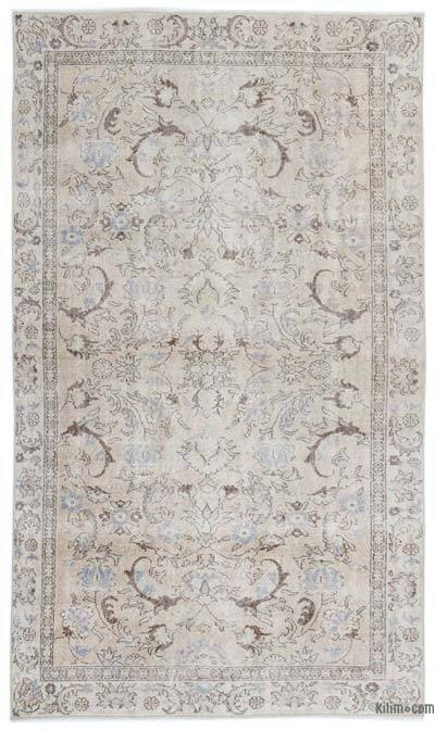 """Over-dyed Turkish Vintage Rug - 5'3"""" x 8'10"""" (63 in. x 106 in.)"""