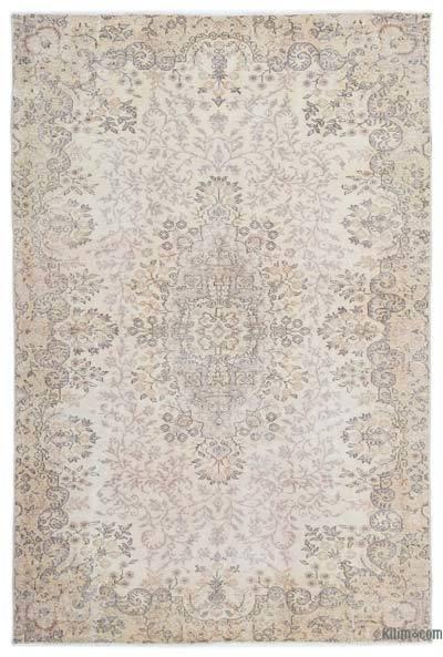 Alfombra Turca Vintage Sobre-teñida - 166 cm x 251 cm