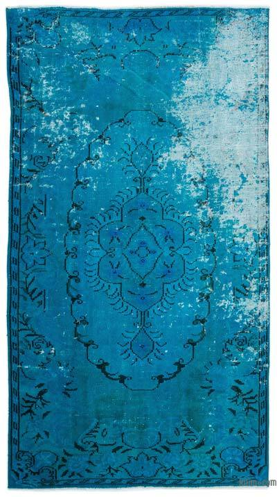 """Over-dyed Turkish Vintage Rug - 5'1"""" x 9'3"""" (61 in. x 111 in.)"""