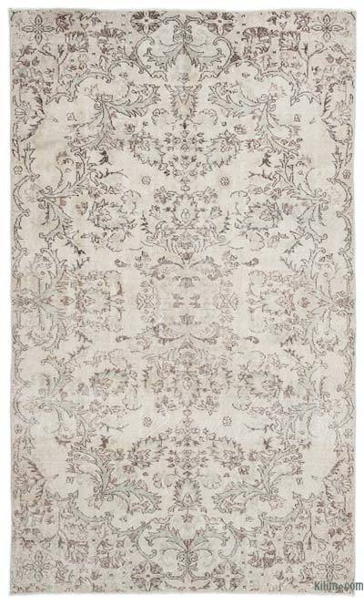 """Over-dyed Turkish Vintage Rug - 5'6"""" x 9'3"""" (66 in. x 111 in.)"""