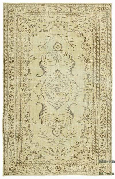 "Over-dyed Turkish Vintage Rug - 5' 5"" x 8' 5"" (65 in. x 101 in.)"