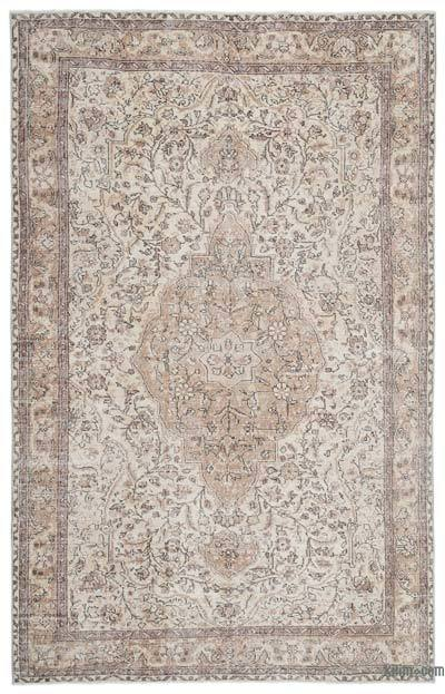 "Over-dyed Turkish Vintage Rug - 6'9"" x 10'6"" (81 in. x 126 in.)"