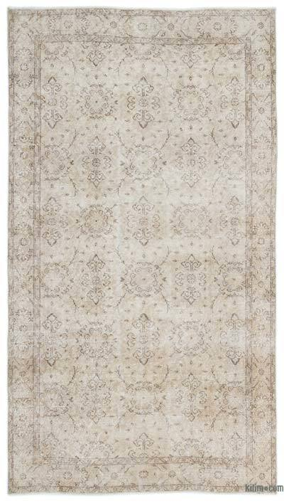 "Over-dyed Turkish Vintage Rug - 5'6"" x 9'10"" (66 in. x 118 in.)"