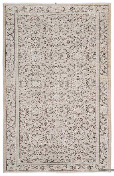 "Over-dyed Turkish Vintage Rug - 5'4"" x 8'4"" (64 in. x 100 in.)"