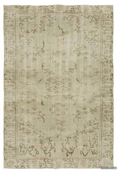 "Over-dyed Turkish Vintage Rug - 6' 3"" x 9' 1"" (75 in. x 109 in.)"