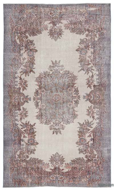 "Over-dyed Turkish Vintage Rug - 5' 9"" x 9' 7"" (69 in. x 115 in.)"